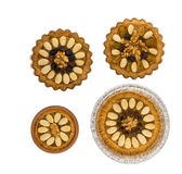 Quatro bolos poloneses tradicionais pequenos da Páscoa Imagem de Stock Royalty Free