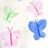 quatro borboletas coloridas pintadas ilustração royalty free