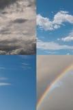 Quatro céus das estações - mola, verão, fá do outono aka Imagens de Stock Royalty Free
