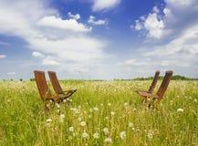 Quatro cadeiras Fotos de Stock Royalty Free