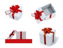 Quatro caixas atuais Fotografia de Stock Royalty Free