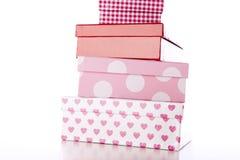 Quatro caixas decorativas Fotos de Stock