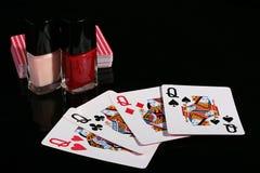 Quatro cartões de jogo Fotografia de Stock Royalty Free
