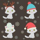 Quatro caráteres bonitos dos gatinhos Imagens de Stock