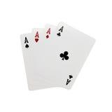 Quatro cartões de Ace Fotografia de Stock Royalty Free