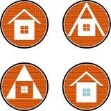 Quatro casas Fotografia de Stock