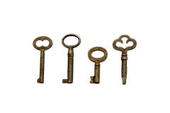 Quatro chaves de esqueleto Fotos de Stock