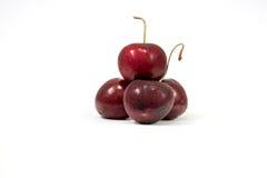 Quatro Cherrys isolado no fundo branco Fotos de Stock