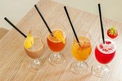 Quatro cocktail não alcoólicos Imagens de Stock