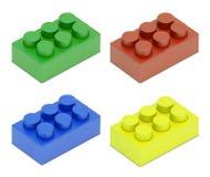 Quatro coloriram blocos da criança Foto de Stock
