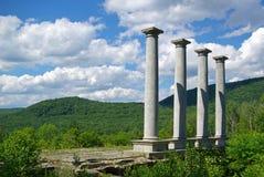 Quatro colunas. Imagem de Stock