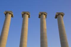 Quatro colunas clássicas Fotografia de Stock
