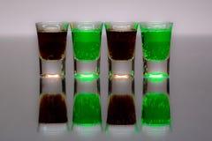 Quatro copos Fotografia de Stock Royalty Free