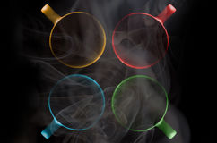 Quatro copos de cores diferentes fotografia de stock royalty free