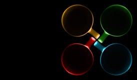 Quatro copos de cores diferentes fotos de stock royalty free