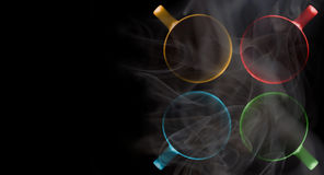 Quatro copos de cores diferentes imagem de stock royalty free