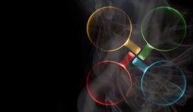Quatro copos de cores diferentes imagem de stock