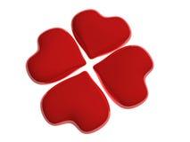 Quatro corações Imagens de Stock Royalty Free