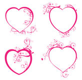 Quatro corações bonitos Fotos de Stock