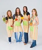 Quatro cozinheiros fêmeas Imagem de Stock