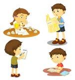 Quatro crianças ilustração stock