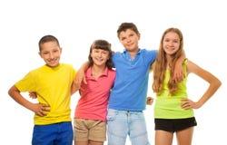 Quatro crianças dos preteens fotografia de stock royalty free
