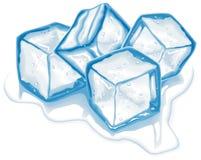 Quatro cubos de gelo do vetor ilustração royalty free