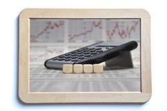 Quatro cubos vazios em uma placa Fotografia de Stock