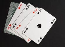 Quatro da combinação amável do póquer imagens de stock