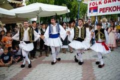 Quatro dançarinos Fotografia de Stock