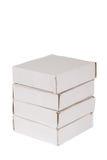 Quatro de caixas de empacotamento Imagem de Stock