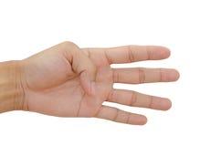 Quatro dedos foto de stock