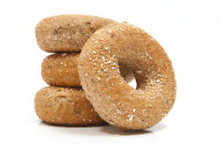 Doze Bagels da grão Fotos de Stock Royalty Free