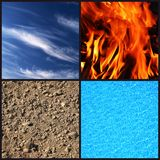 Quatro elementos foto de stock royalty free