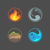 Quatro elementos Imagens de Stock Royalty Free