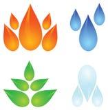Quatro elementos da natureza ilustração stock