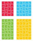 Quatro enigmas coloridos Fotos de Stock