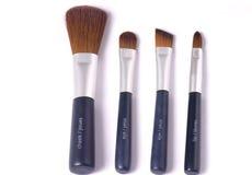 Quatro escovas da beleza imagens de stock