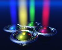 Quatro esferas Imagem de Stock