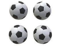 Quatro esferas de futebol imagem de stock