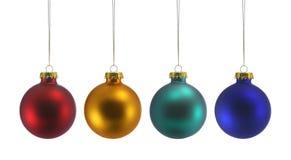 Quatro esferas do Natal Fotos de Stock Royalty Free