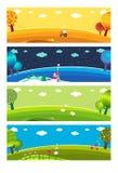 Quatro estações. ilustração stock