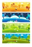 Quatro estações. ilustração do vetor