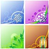 Quatro estações ilustração royalty free