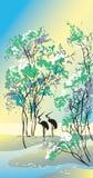 Quatro estações: verão ilustração royalty free