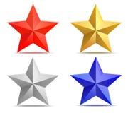 Quatro estrelas Imagens de Stock Royalty Free