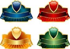 Quatro etiquetas do protetor ilustração royalty free