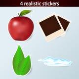 Quatro etiquetas realísticas Foto de Stock