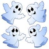 Quatro fantasmas bonitos ilustração do vetor