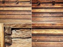 Quatro feixes das texturas e placas de madeira Fotografia de Stock Royalty Free